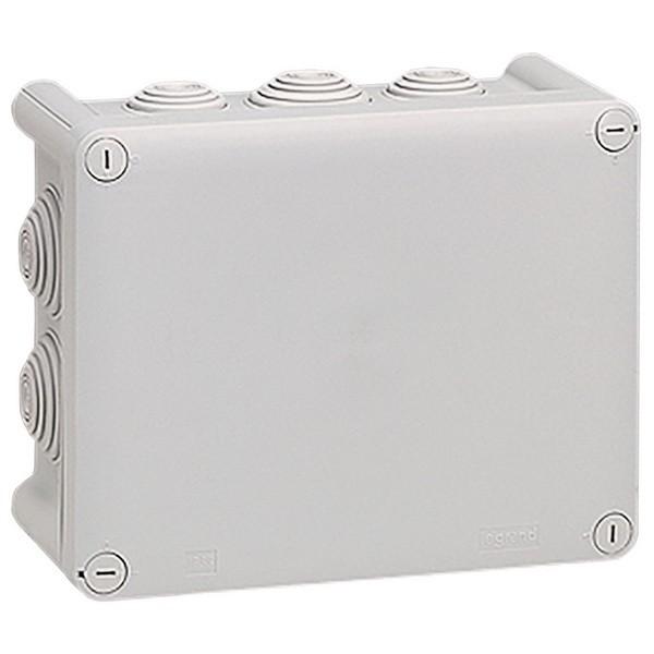 LEGRAND 092042 Коробка прямоугольная 155x110x74 мм, 10 кабельных вводов, серая, Plexo<img style='position: relative;' src='/image/only_to_order_edit.gif' alt='На заказ' title='На заказ' />