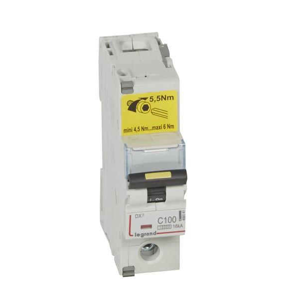 LEGRAND 409141 Автоматический выключатель, серия DX3, С100A, 16kA, 1-полюсный