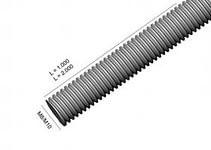 WIBE-DEFEM 1149562 Шпилька M10 длиной 2000 мм, из нержавеющей стали