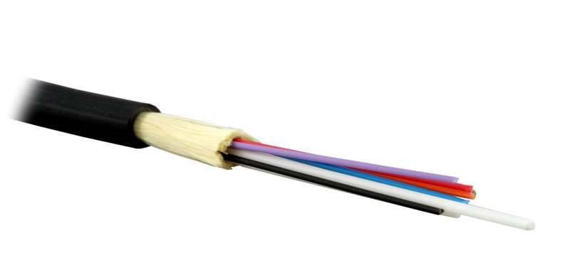 Teldor F60080811B (MTA-6-08HT-D-KH-D) (95M796M08B) Кабель волоконно-оптический 62.5/ 125 (OM1) многомодовый, 8 волокон, плотное буферное покрытие (tight buffer), внутренний/ внешний, HFFR, -40°C - +70°C, черный