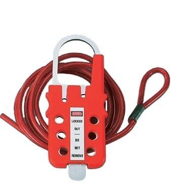 Универсальное устройство для блокировки с покрытым винилом тросиком из оцинкованной стали PANDUIT PSL-MLDC200<img style='position: relative;' src='/image/only_to_order_edit.gif' alt='На заказ' title='На заказ' />