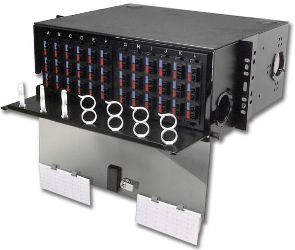 Siemon RIC3-72-01 Шкаф оптический выдвижной 4U, на 72-288 соединений (12 адаптерных пластин Quick-Pack (RIC-F-(XXX)-01), черный