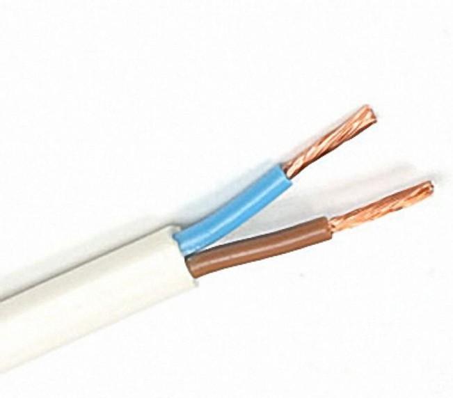 Российский кабель ПВС 2x1.5 кв.мм Провод со скрученными жилами, с ПВХ изоляцией, в ПВХ оболочке (цена за 1 м)