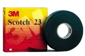 3M 7000034850 (HT002001283) Scotch 23 Самослипающаяся резиновая изоляционная лента, черная, в инд. упаковке, 25мм х 9, 15м