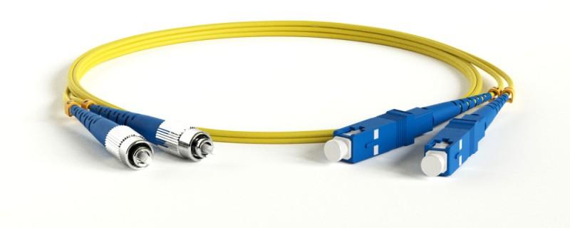 Hyperline FC-D2-9-FC/ UR-SC/ UR-H-2M-LSZH-YL Патч-корд волоконно-оптический (шнур) SM 9/ 125 (OS2), FC/ UPC-SC/ UPC, 2.0 мм, duplex, LSZH, 2 м