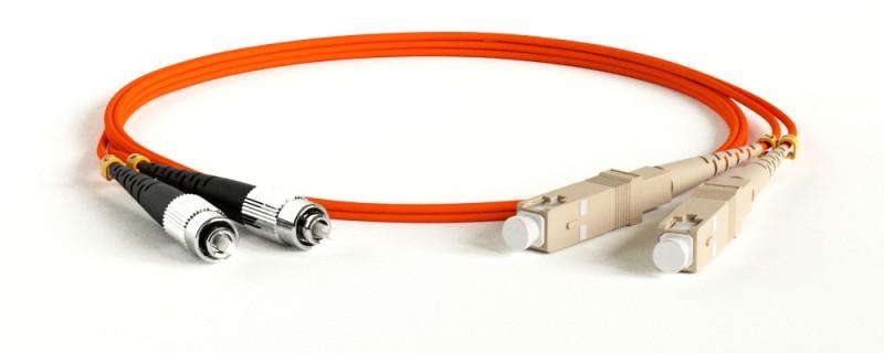 Hyperline FC-D2-62-FC/ PR-SC/ PR-H-2M-LSZH-OR Патч-корд волоконно-оптический (шнур) MM 62.5/ 125, FC-SC, 2.0 мм, duplex, LSZH, 2 м