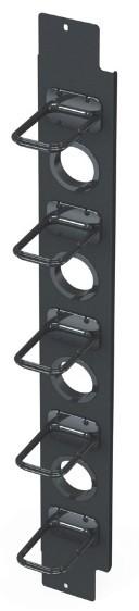 Вертикальный канал коммутации половинной высоты с органайзерами S145 для шкафа V800 Siemon V8A-VPC145-1-42