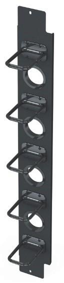 Вертикальный канал коммутации половинной высоты с органайзерами S145 для шкафа V800 Siemon V8A-VPC145-1-48