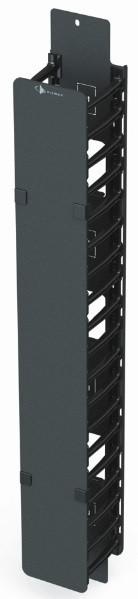 """Вертикальный канал коммутации половинной высоты с органайзерами-гребенками 4"""" и крышкой Siemon V8A-VPC4-1-48"""