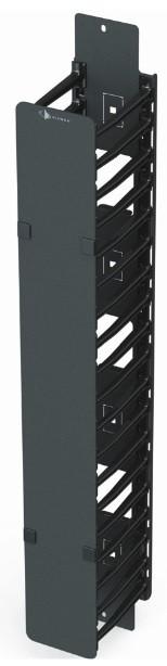 """Вертикальный кабельный органайзер половинной высоты с гребенками 6"""" и крышкой Siemon V8A-VPC6-1-45 (152 мм)"""