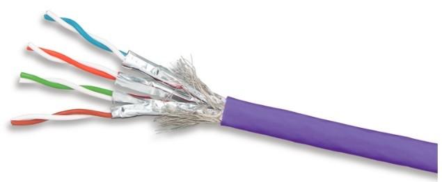 Siemon 9T7L4-E6 (305 м) Кабель витая пара TERA®, экранированная S/ FTP, категория 7, 4 пары (23 AWG), одножильный (solid), LSOH-3 (IEC 60332-3-22), 600 MHz, -20°C - +75°C, фиолетовый (катушка)