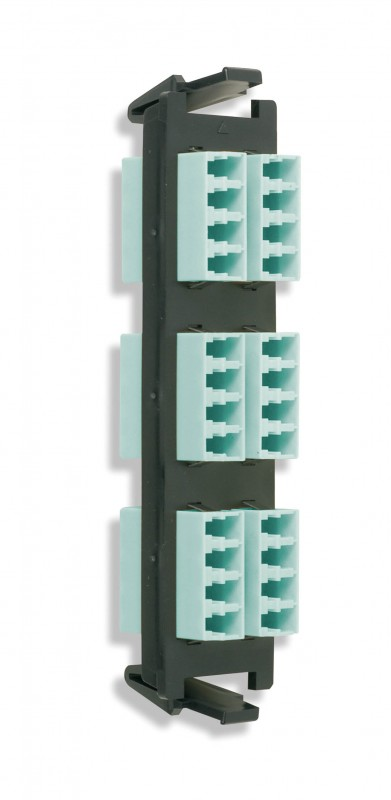 Siemon RIC-F-LCU24-01C Quick-Pack Панель с 6 LC quadro адаптерами, 24 волокна, одномод, цвет адаптеров голубой (для RIC3, SWIC3, FCP3)