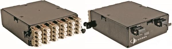 Siemon PPM-24-LC5L-01-SALE Волоконно-оптическая кассета высокой плотности, LC- MTP, 24 волокна, OM3, XGLO, черная (РАСПРОДАЖА)