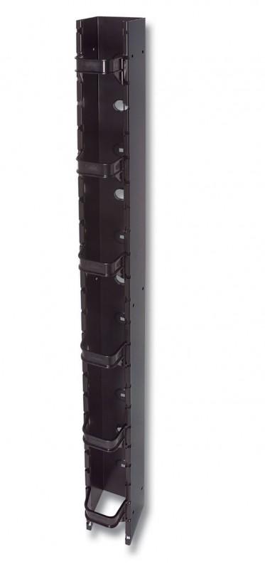 Siemon RS-CNL-SALE Вертикальный кабельный канал (2, 1 м x 152, 4 мм x 224, 8 мм ) для установки между стойками глубиной 152 мм (крепеж в комплекте), черный (РАСПРОДАЖА)