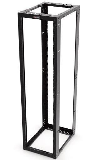 """Zpas Siemon RSQ1-07-S-SALE Четырехопорная 19"""" стойка VersaPOD® (с регулируемой глубиной), с направляющими под винты #12-24, 2130 мм x 560 мм x 558-914 мм, 45U, черная (РАСПРОДАЖА)"""