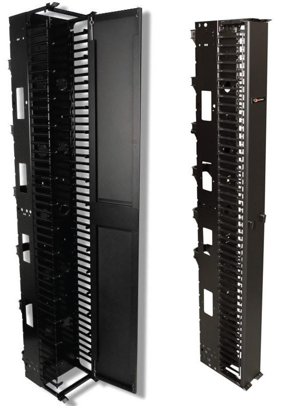 Siemon VPCA-6 Вертикальный канал коммутации 2, 1 м x 152 мм (включает переднюю крышку, 6 тыльных кабельных держателя и крепеж), черный<img style='position: relative;' src='/image/only_to_order_edit.gif' alt='На заказ' title='На заказ' />