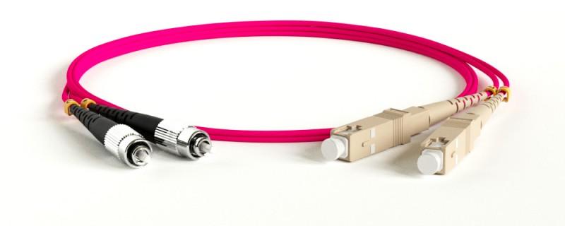 Hyperline FC-D2-504-FC/ PR-SC/ PR-H-50M-LSZH-MG Патч-корд волоконно-оптический (шнур) MM 50/ 125(OM4), FC-SC, 2.0 мм, duplex, LSZH, 50 м<img style='position: relative;' src='/image/only_to_order_edit.gif' alt='На заказ' title='На заказ' />