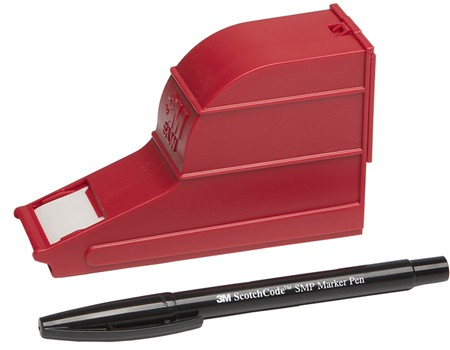3M 7000031501(80610593883) Scotchcode SWD Комплект для маркировки: диспенсер, маркировочная лента (19мм х 8мм), маркер для надписей