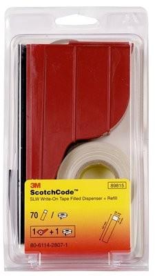 3M 7000031502 (80610593917) Scotchcode SLW Комплект для маркировки: диспенсер, маркировочная лента (25мм х 19мм), маркер для надписей