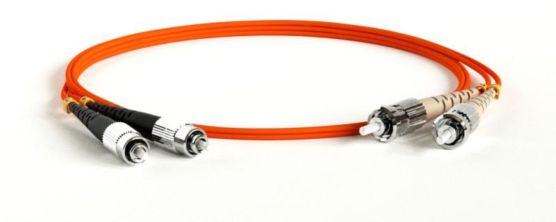 Hyperline FC-D3-50-FC/ PR-ST/ PR-H-3M-LSZH-OR (FC-50-ST-FC-PC-3M) Патч-корд волоконно-оптический (шнур) MM 50/ 125, FC-ST, 3.0 мм, duplex, LSZH, 3 м
