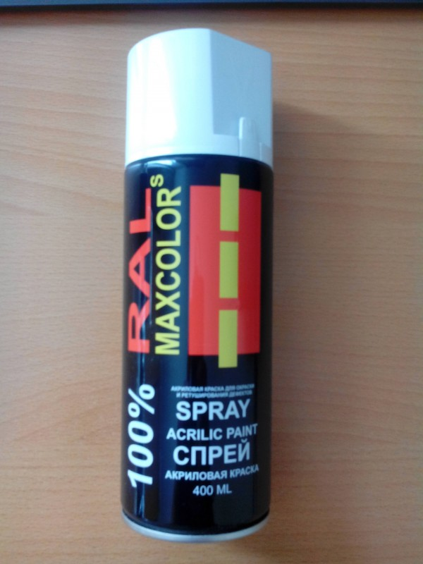 Maxcolors Аэрозольная ремонтная краска Jet Black Acrilico SATIN