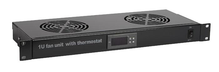 """Модуль вентиляторный 19"""" Hyperline TRFA-MICR-2F-RAL9004"""