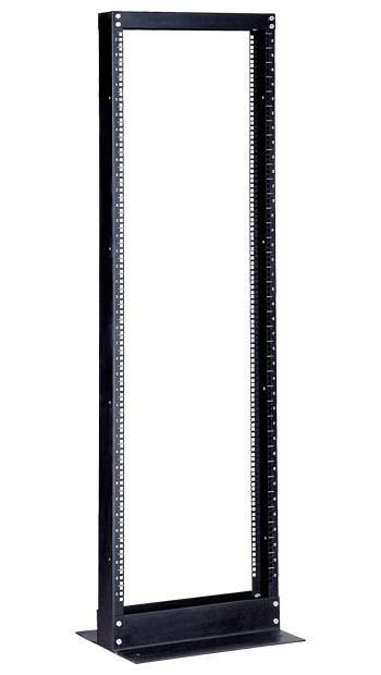 """Hyperline ORV1-45-RAL9005 Открытая стойка 19-дюймовая (19""""), 45U, высота 2152 мм, однорамная, цвет черный (RAL 9005)"""