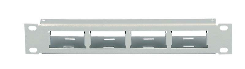 "ZPAS WNK-891-319 Патч-панель 10"", уст. размер 236 мм, 1U, на 4 модуля 25x50мм (SKI2)"