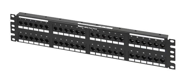 PANDUIT DP485E88TGY Патч-панель DP5e 110, категория 5e, 48 портов, Т568A/ B, 2U