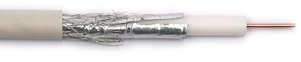 Belden H126A00.00500 Кабель коаксиальный RG-6, 75 Ом, 18 AWG (1, 02 мм, медь, одножильный), двухслойный экран (100% фольга+ 35% медная оплетка), -40°C - +70°C, общий диаметр 6.9 мм, PVC<img style='position: relative;' src='/image/only_to_order_edit.gif' alt='На заказ' title='На заказ' />