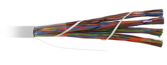 Teldor 7552100129W050T (T50100002G) (75N2100129) (T50100002B W050T) Кабель витая пара, неэкранированная U/ UTP, категория 3, 100 пар (25 пар(24 AWG)х4), одножильный (solid), центральный силовой элемент, FR-PVC, -10°C - +50°C, светло-серый