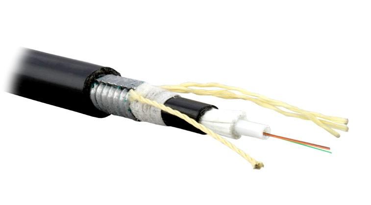Teldor F90080128B (SLA-9-01X08-ZPRP-DD) (95L529X08B) Кабель волоконно-оптический 9/ 125 (OS2, G.652D) одномодовый, 8 волокон, модульная конструкция (loose tube), для внешней прокладки, бронированный стальной лентой, PE, -40°C - +70°C, черный