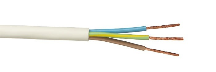 Российский кабель ПВС 3x1.5 кв.мм (100м) Кабель со скрученными жилами, с ПВХ изоляцией, в ПВХ оболочке, белый