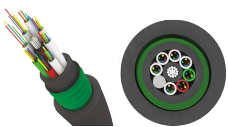 Трансвок ОКЗ-САО-1/ 3Сп-8(2) (1, 5кН) Кабель волоконно-оптический 9.5/ 125 (G.652.D) одномодовый, 8 волокон, внутризоновый, бронированный стальной лентой, прокладка в каб.канализации, тоннелях, черный