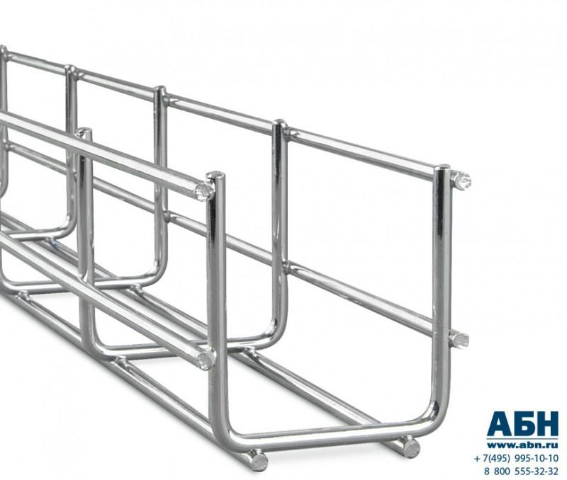 AXELENT X-TRAY 0121 Проволочный лоток шириной 220 мм, высотой 60 мм, оцинковано-хромированный, для внутренних работ (для помещений) (2.5 м)