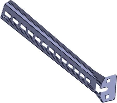 AXELENT X-TRAY 2314-280 Стойка L-образная X14/ 280, нержавеющая сталь 316L
