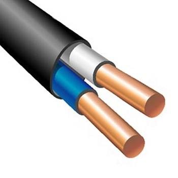 Российский кабель Энергокабель ВВГ-Пнг(А)-LS 2х2, 5ок(N)-0, 66 (200 м) Кабель силовой, медный, плоский, с пластмассовой изоляцией, не распространяющий горение, с низким дымо- и газовыделением, на напряжение до 0.66 кВ, черный (ГОСТ)