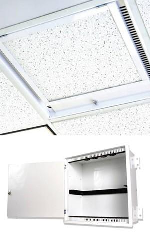Siemon ZU-C4P-L02 Бокс для фальш-потолка Passive Ceiling Zone Enclosure, 4U, белый, замок с ключом, 8 пластиковых втулок в комплекте<img style='position: relative;' src='/image/only_to_order_edit.gif' alt='На заказ' title='На заказ' />
