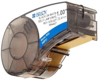 BRADY brd110928 Самоламинирующиеся кабельные маркеры для кабеля, провода, патч-панелей, 25.40мм x 4.26м (диаметр до 5мм), винил, черный на белом, M21-1000-427