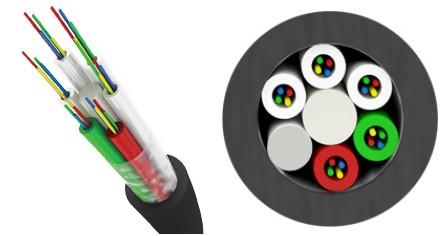 Трансвок ОКМТ-О-1/ 5Сп-4(1/ 50) (1, 5кН) Кабель волоконно-оптический 50/ 125 многомодовый, 4 волокна, магистральный диэлектрический, c полимерной защитной оболочкой, для прокладки в пластмассовый трубопровод, черный