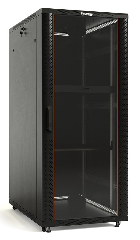 Шкаф напольный 19-дюймовый Hyperline TTB-4762-AS-RAL9004