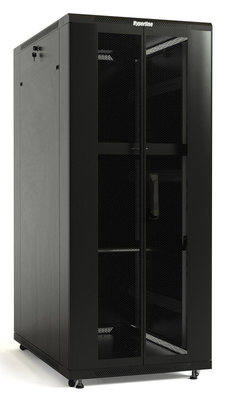 Шкаф напольный 19-дюймовый Hyperline TTB-4788-DD-RAL9004