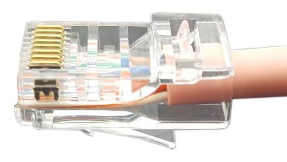 """Hyperline PLEZ-8P8C-U-C6-100 Разъем легкой оконцовки RJ-45 (8P8C) под витую пару, категория 6 (50 µ""""/ 50 микродюймов), универсальный (для одножильного и многожильного кабеля) (100 шт.)"""