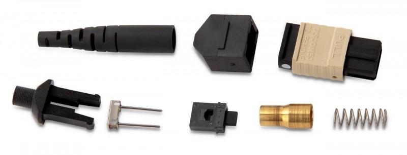 Hyperline MTPM-MM-BG-3RD Коннектор MTP(папа), многомодовый, для круглого кабеля 3 мм, бежевый колпачок
