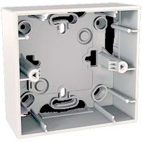 Schneider Electric Schneider MGU8.002.18 UNICA Коробка для открытой установки, 1-постовая, белая<img style='position: relative;' src='/image/only_to_order_edit.gif' alt='На заказ' title='На заказ' />