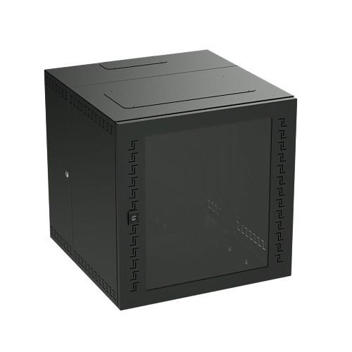DKC / ДКС R5STI1665MTB Шкаф телекоммуникационный навесной, трехсекционный, 16U (800х600х650) дверь стекло, цвет черный RAL 9005<img style='position: relative;' src='/image/only_to_order_edit.gif' alt='На заказ' title='На заказ' />