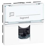 LEGRAND 76576 Модуль розетки компьютерной RJ-45, кат. 6A, 10GIGA, STP/ FTP, 2М, белый, Mosaic