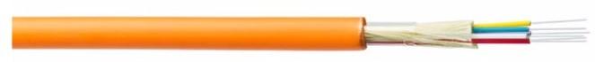 Belden GIMT224.002100 Кабель волоконно-оптический 50/ 125 (OM2) многомодовый, 24 волокна, плотное буферное покрытие (tight buffer), для внутренней прокладки, FRNC / LSNH IEC 60332-3-24, -30°C - +70°C, оранжевый (аналог I-V(ZN)H)