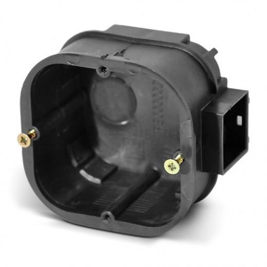 PlastElectro PE 000 002 Коробка установочная квадратная, для бетона, усиленная, со стыковочными ушками для сборки в ряд, IP20, 65х65х43