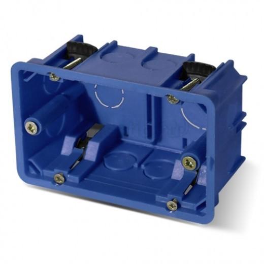 PlastElectro PE 030 041 Коробка установочная прямоугольная, для полых стен, усиленная, крепежное расстояние 83 мм, с крепежными шурупами, IP20, 100х60х50